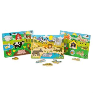 Animals Wooden Peg Puzzles